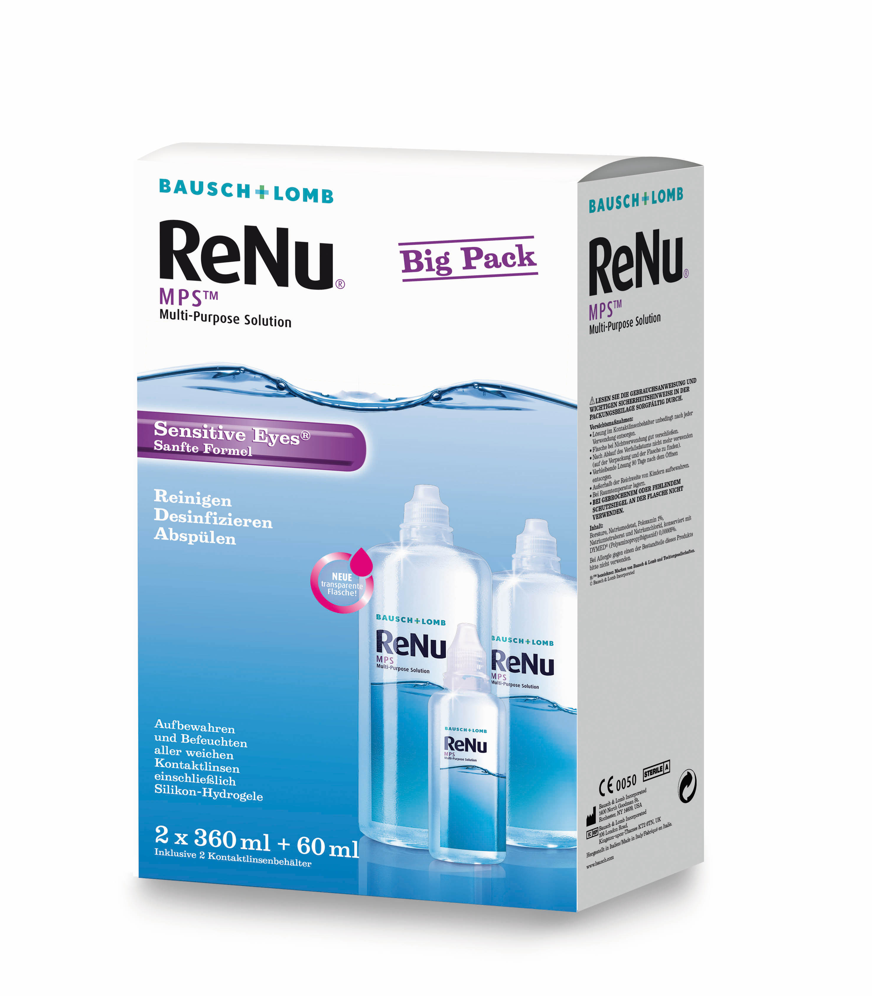 ReNu MPS Sensitive Eyes Big Box, Bausch & Lomb (2 x 360 ml)