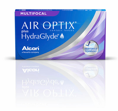 Air Optix Plus HydraGlyde Multifocal, Alcon (3 Stk.)