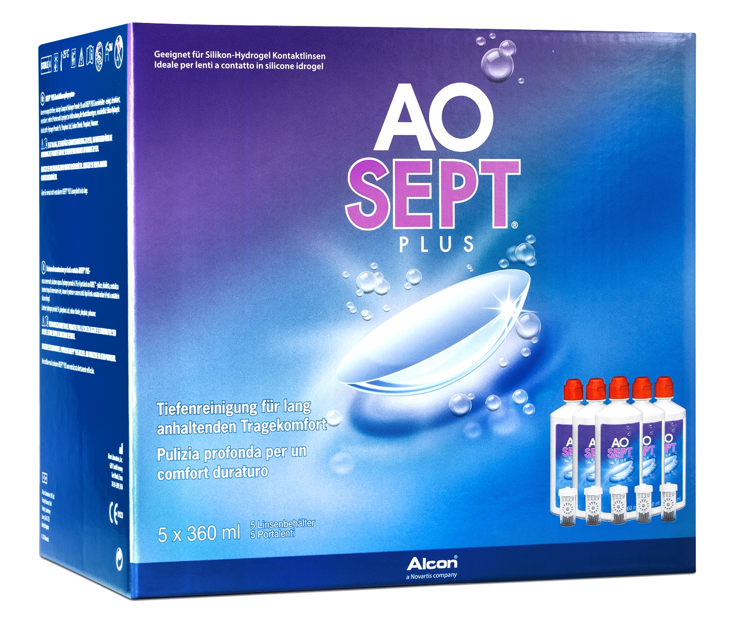 AOSEPT Plus Systempack, Alcon (5 x 360 ml)