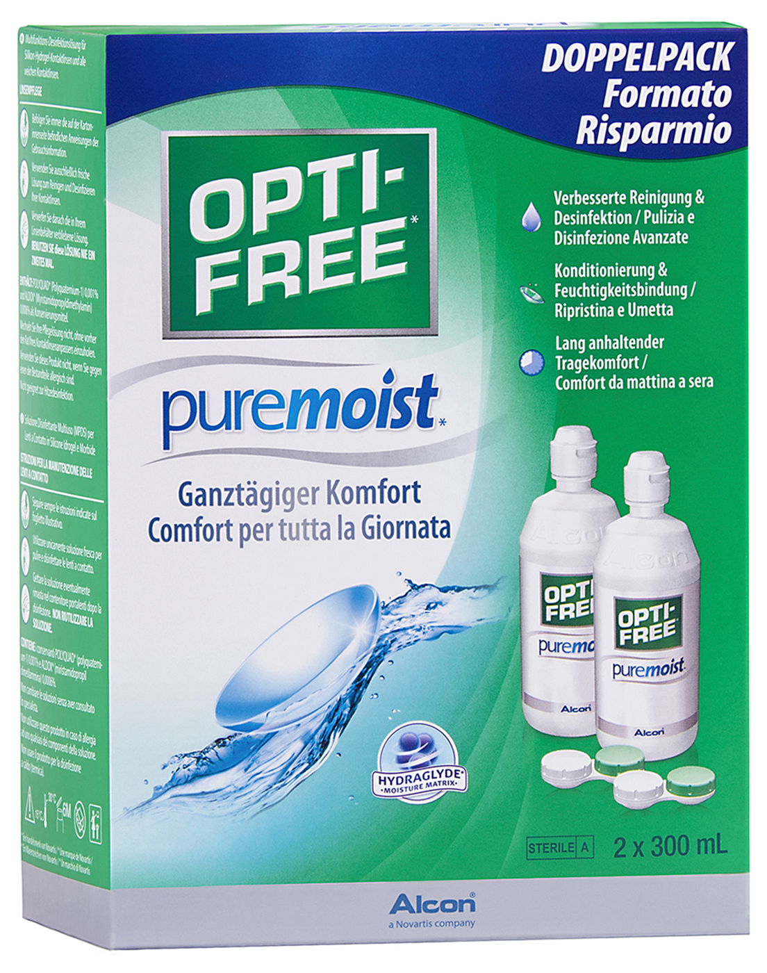 Opti-Free PureMoist Vorratspack, Alcon (2 x 300 ml)