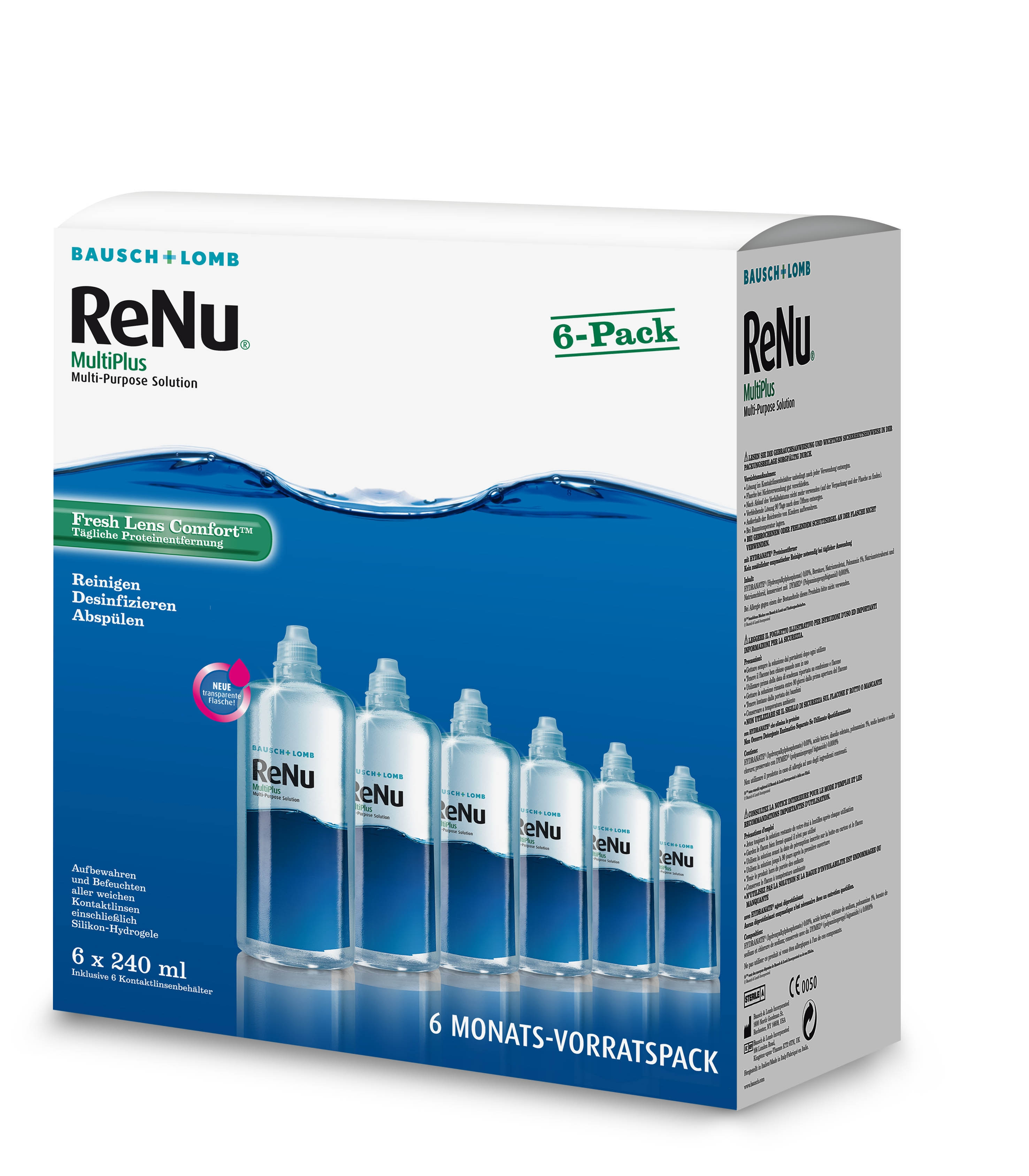 ReNu Multiplus Fresh Lens Comfort 6-Monatspack, Bausch & Lomb (6 x 240 ml)