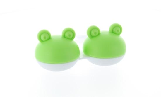 Kontaktlinsenbehälter Frosch grün