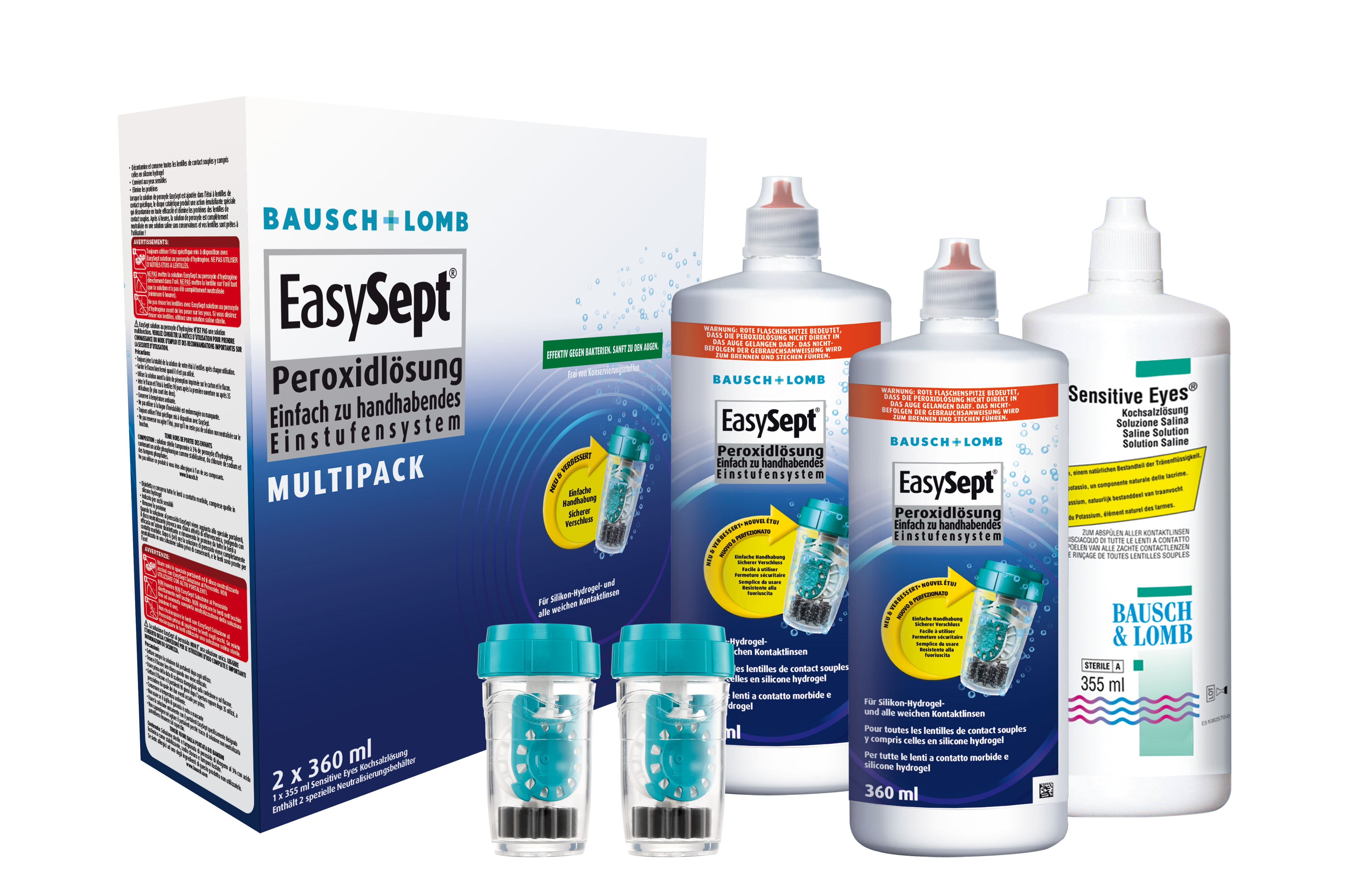 Bausch & Lomb EasySept Multipack (2 x 360ml + 355ml)