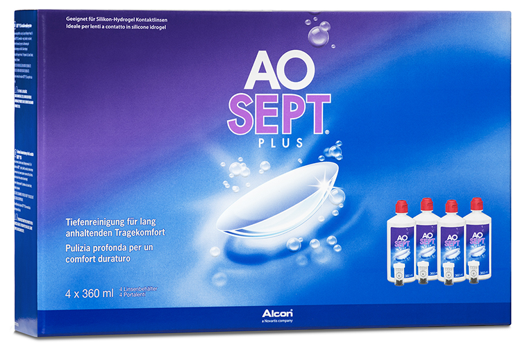AOSEPT Plus Systempack, Alcon (4 x 360 ml)