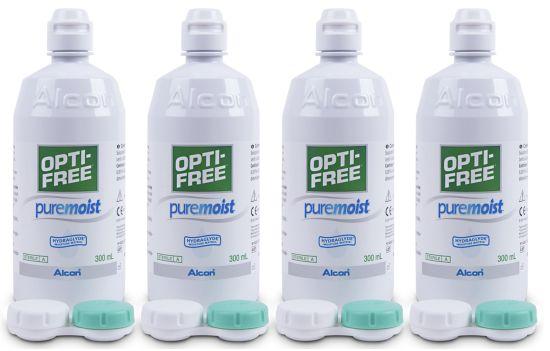 Opti-Free PureMoist Systempack, Alcon (4 x 300 ml)